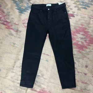 NWT Everlane High Rise Skinny Ankle Black Jeans 32
